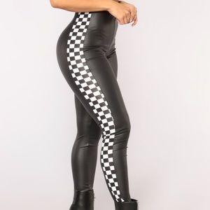 Fashion Nova Leggings - Checkered